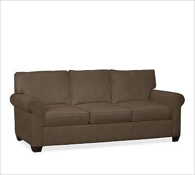 Buchanan Upholstered Sofa Polyester Wrap Cushions Slubby
