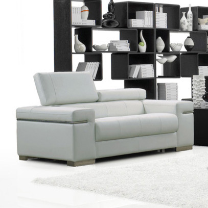 J M Furniture Soho Loveseat In White Leather Contemporary Love Seats By Beyond Stores