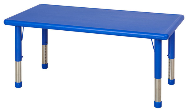 Resin Adjustable Activity Table Blue Contemporary
