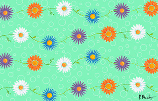 Daisy green 2 wall mural contemporary wallpaper by for Daisy fuentes wall mural