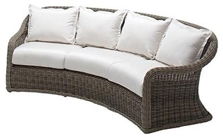 Havana Curved Outdoor Sofa With Cushions Patio Furniture