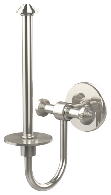Upright Tissue Holder Polished Nickel Contemporary