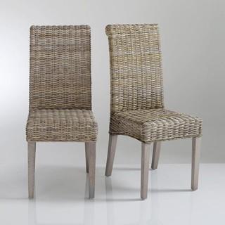 Chaise kubu tress lot de 2 lunja contemporain - La redoute chaises salle a manger ...
