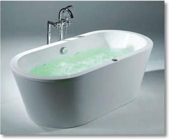 Acritec art 39 o 39 i b free standing bathtub contemporary for Non standard bathtubs