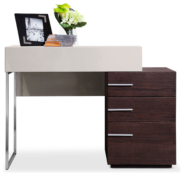 Modrest Daytona Modern Brown Oak Vanity Dresser Modern Bedroom Make