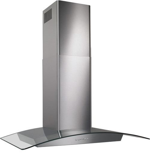 """30"""" Chimney Style Glass Range Hood, Stainless Steel - Range Hoods And Vents - by Almo ..."""