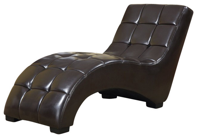 R2000 1 brown polyurethane chaise lounge chair for Brown chaise lounge indoor