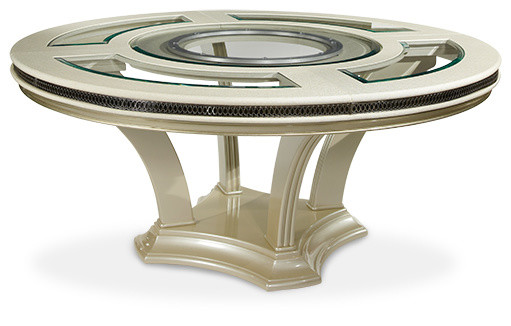 Hollywood Swank Round Table Dining Collection  : contemporary dining tables from www.houzz.com size 511 x 326 jpeg 40kB