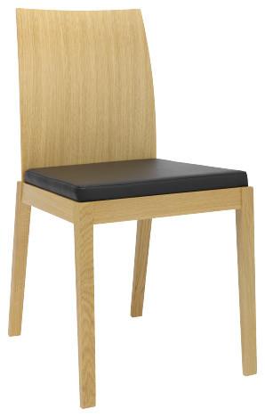 Catania chaise avec galette marron moderno sillas de for Sillas comedor habitat