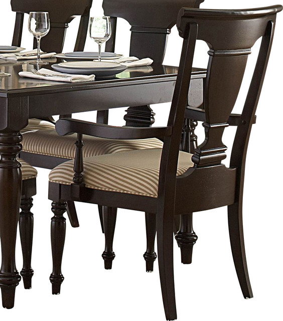 Homelegance Inglewood Fabric Arm Chair In Cherry Traditional Dining Chairs By Beyond Stores