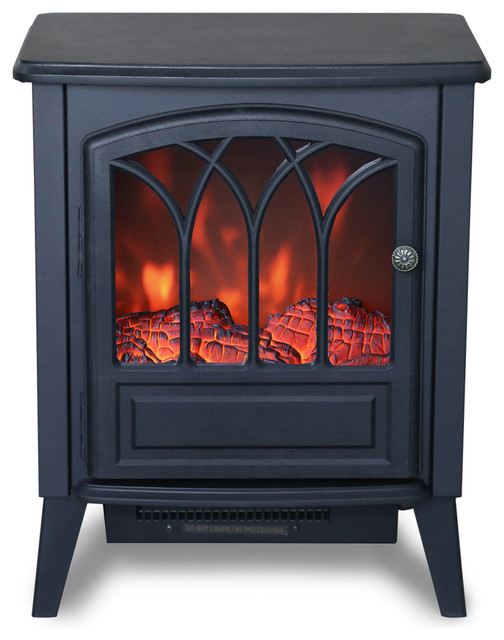 Freestanding Electric Fireplace Space Heater - Traditional - Space Heaters - by Crosslinks