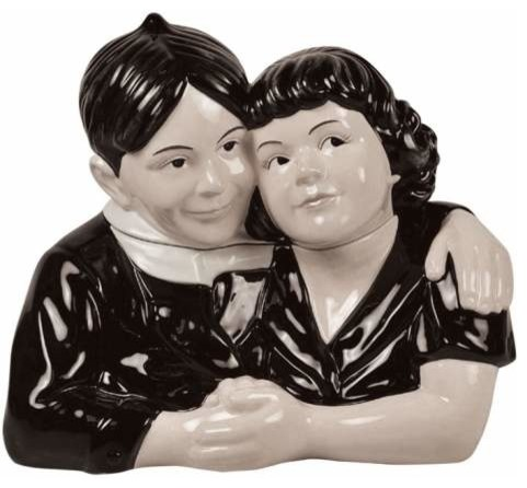 10.25 Inch Alfalfa and Darla Hugging Little Rascals Ceramic Cookie Jar - Eclectic - Kitchen ...