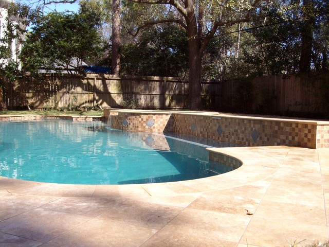 Pool spa project in houston tx traditional houston for Pool design houston tx