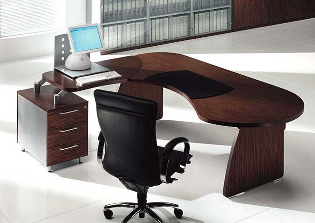 tai wood contoured office desk by uffix modern desks