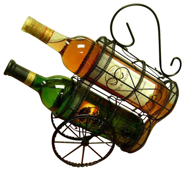 Proman Products Wine Holder Double Wagon - Traditional - Wine Racks ...