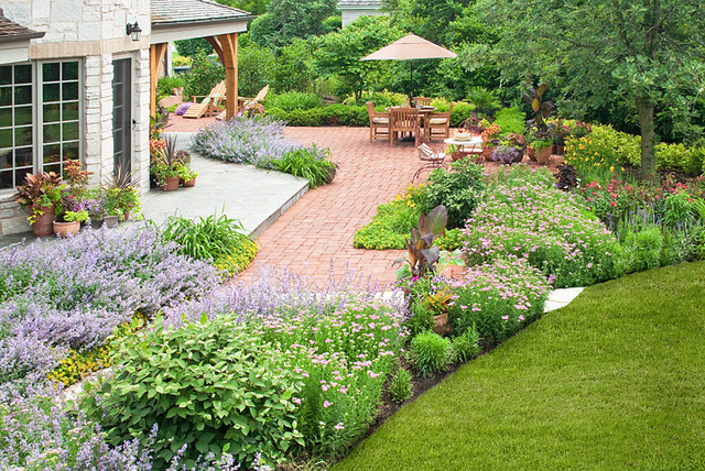 French Country Garden Traditional Landscape Chicago