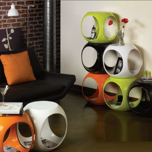 Slick Cube Occasional Tables Modern Side Tables And