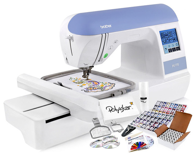 Brother PE-770 Embroidery Machine Package - Modern - Sewing Machines - by Mr. Vac and Mrs. Sew