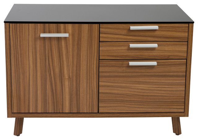 Hart Sideboard, Black and Walnut - Contemporary - Filing Cabinets - by Euro Style
