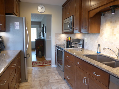 1960 39 s small galley kitchen remodeled before and after - Remodeling a small kitchen before and after ...