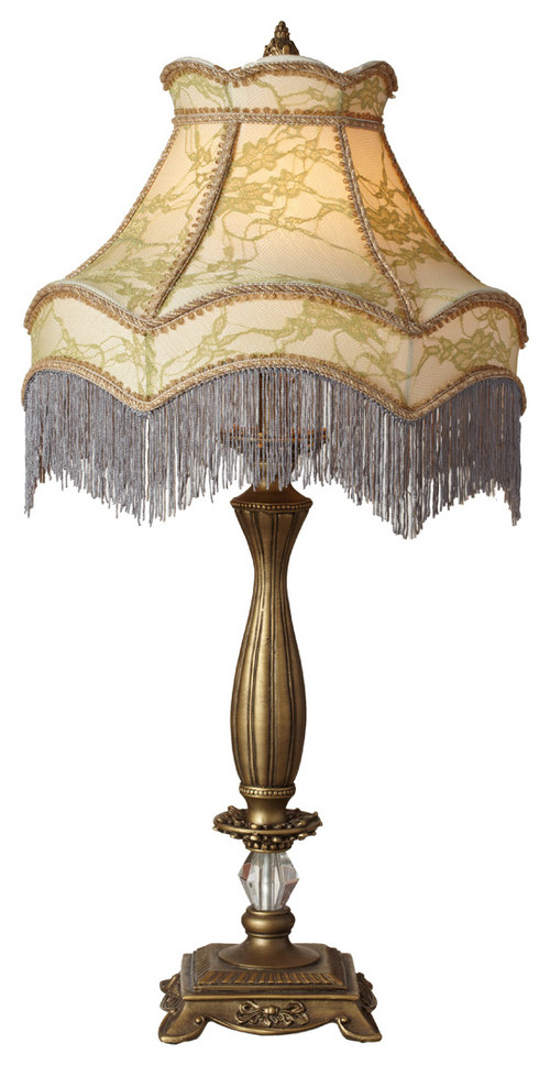 "Downton Abbey Ladies of Downton Collection 30"" Lace Fringe Table Lamp"