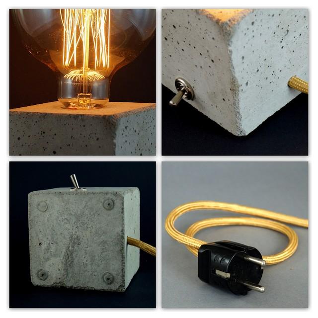 Betonlampe cubo industriel lampe poser other - Lampe a poser industriel ...