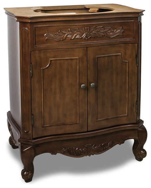 "Lyn Floral Inlay Vanity, 29"" - Traditional - Bathroom Vanities And Sink Consoles - by Simply ..."
