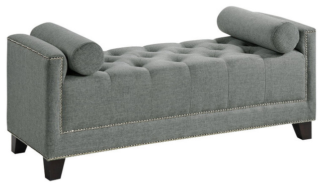 Baxton Studio Bedroom Bench Gray Transitional