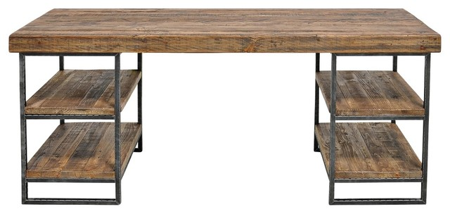 Morella Natural Wood Desk Industrial Dining Tables : industrial dining tables from houzz.com.au size 640 x 304 jpeg 43kB