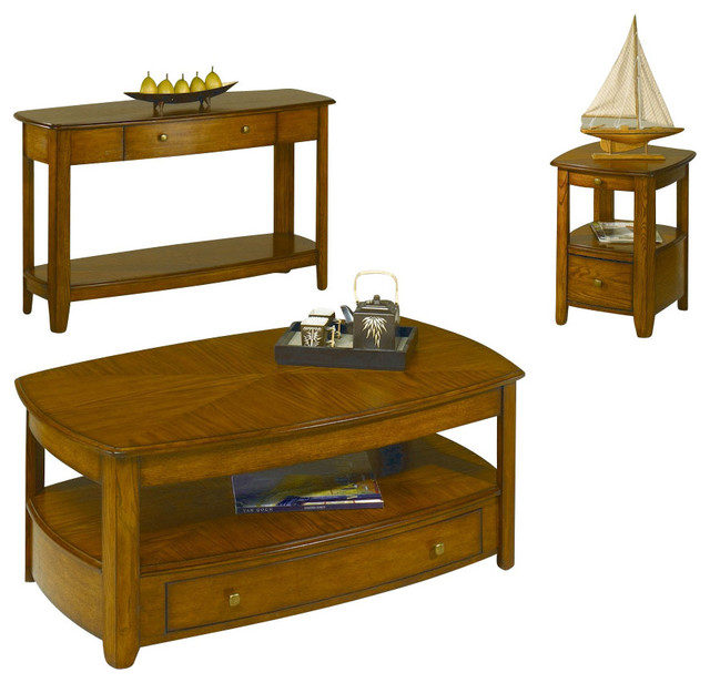 Hammary Primo 3 Piece Coffee Table Set Traditional Coffee Table Sets By Beyond Stores