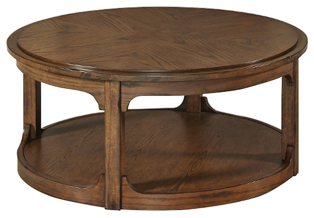 Facet Round Cocktail Table Transitional Coffee Tables By Smartfurniture