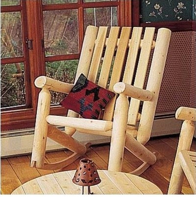 High Back Indoor Outdoor Rocking Chair Modern
