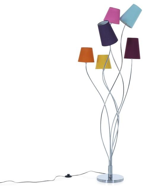 artifice lampadaire 6 lumi res acier h160cm contemporain. Black Bedroom Furniture Sets. Home Design Ideas