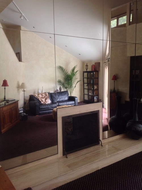 do i remove a mirrored wall in my living room