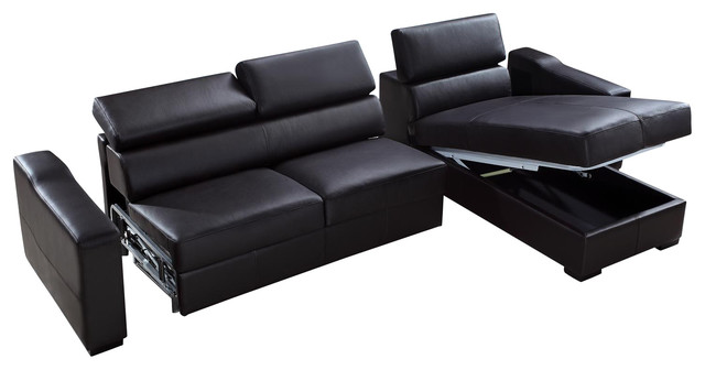 leather sectional sofa bed with storage contemporary sectional sofas