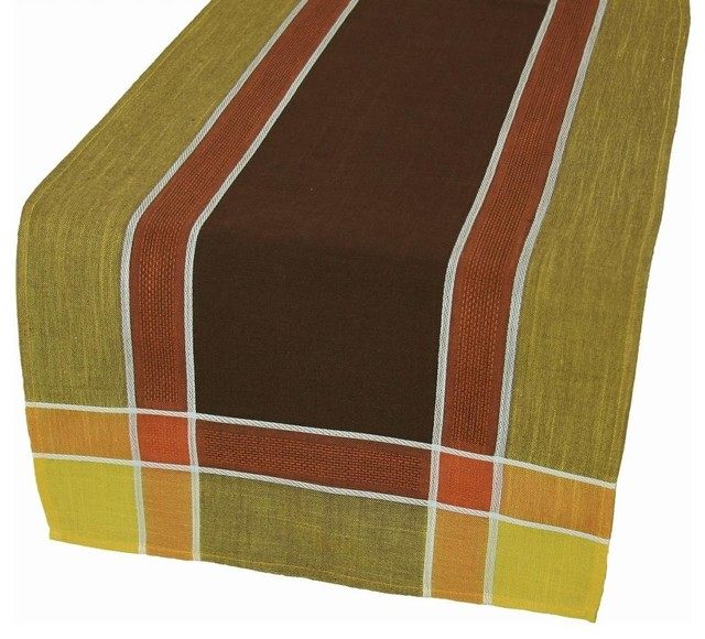 riviera table linens 15 inch by 36 inch table runner coffee craftsman table runners by. Black Bedroom Furniture Sets. Home Design Ideas