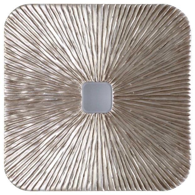 Silver Leaves Wall Decor : Uttermost laden carved wood finished in antiqued silver