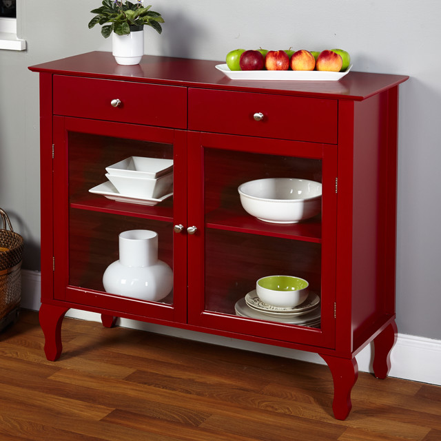 Simple Living Layla Red Buffet Contemporary Buffets