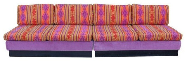 Funky And Bright Mid Century Modern Sectional Sofa
