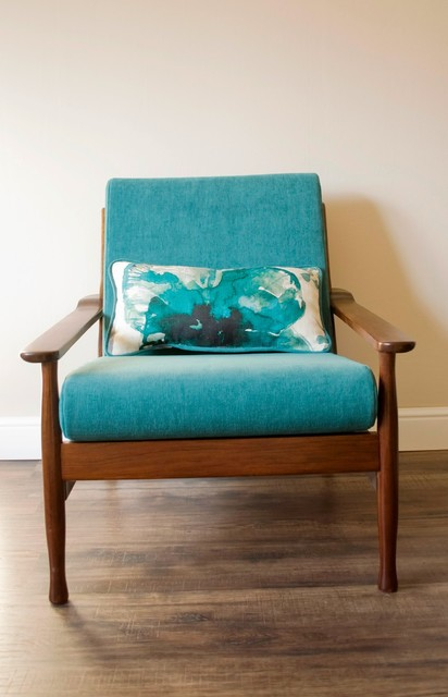 Danish mid-century upcycled armchair with cushion