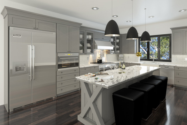 Custom RTA Cabinets - Contemporary - Los Angeles - by Domain Cabinets ...