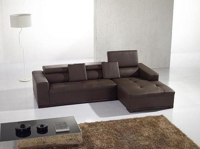 Advanced Adjustable Tufted Leather Curved Corner Sofa