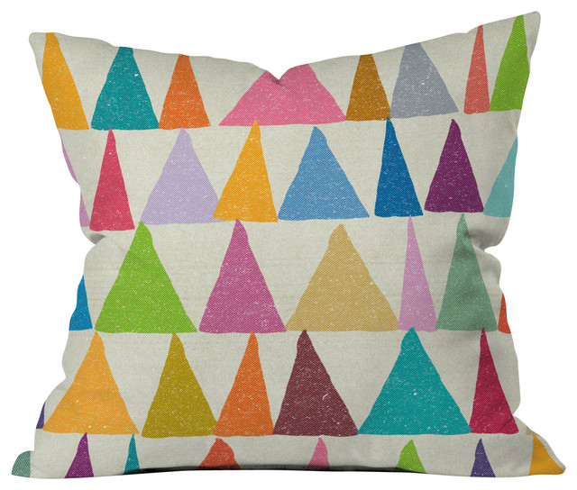 Outdoor Throw Pillows Kmart : Nick Nelson Analogous Shapes In Bloom Outdoor Throw Pillow - Contemporary - Outdoor Cushions And ...