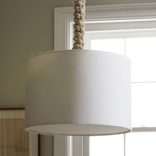 Braided Rope Pendant - Contemporary - Pendant Lighting - by West Elm