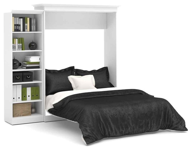 Queen Wall Bed In White Contemporary Murphy Beds By