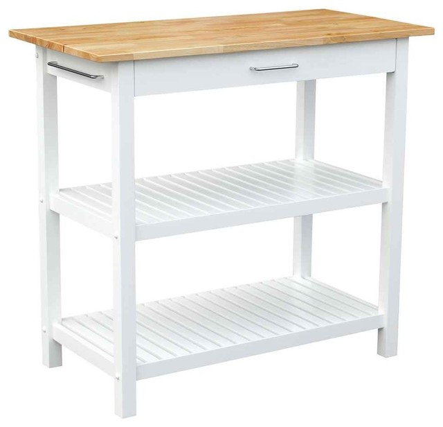 Island, White Finish contemporary kitchen islands and kitchen carts