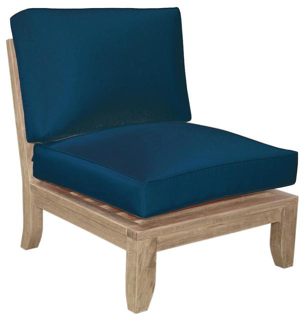 Luxe Center Modular Navy Modern Outdoor Lounge Chairs
