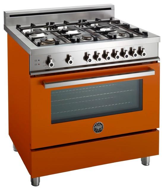 """Arancio Professional 36"""" Series Range - Moderno - Cucine a gas ed elettriche - Altro - di Bertazzoni"""