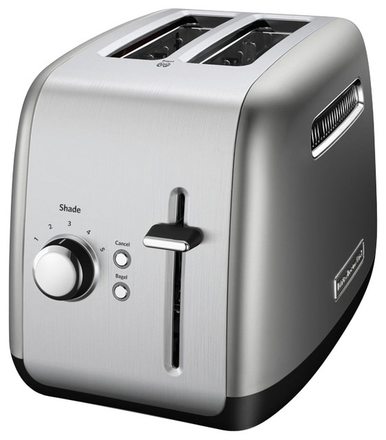 kitchenaid 2 slice toaster counter silver modern. Black Bedroom Furniture Sets. Home Design Ideas