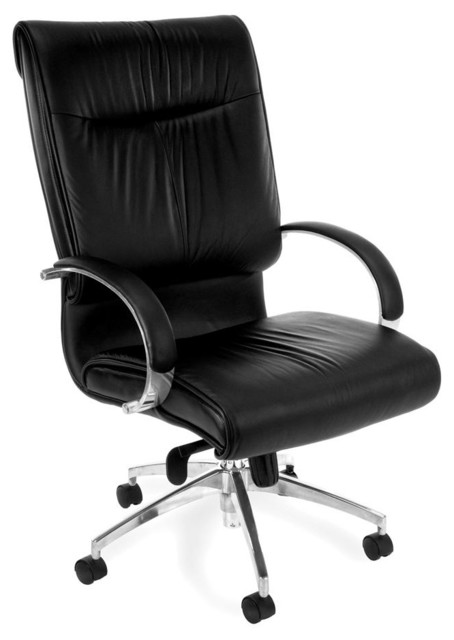 black leather modern executive high back swivel chair contemporary